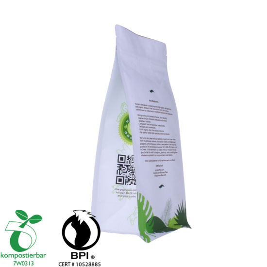Proveedor de papel de embalaje de café Ziplock Block Bottom Food en China