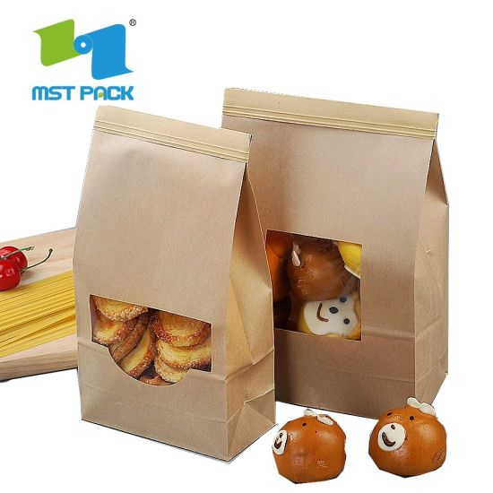 Bolsa de pan de papel 100% reciclable biodegradable