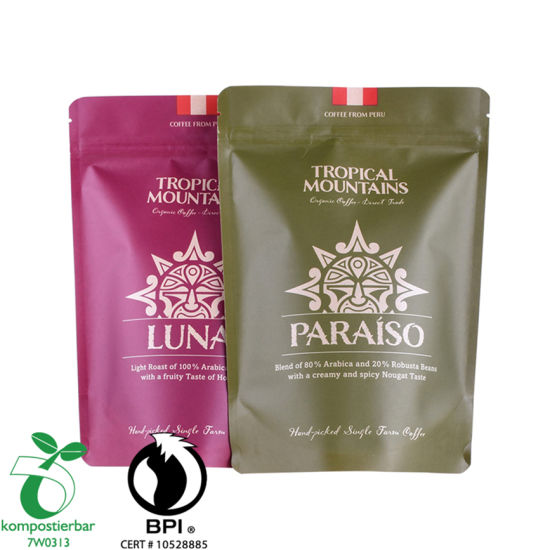 Recicle PLA y Pbat Packaging Bag Coffee al por mayor en China