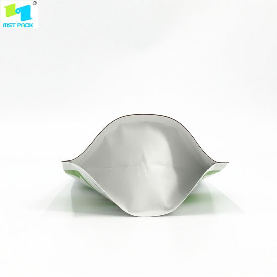 100% Almidón de maíz Biodegradable Compostable PLA Zipper Food Packaging Bag