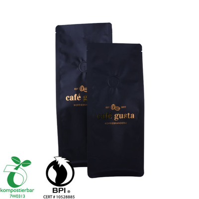Fábrica de bolsas de café de fondo cuadrado compostable al por mayor en China