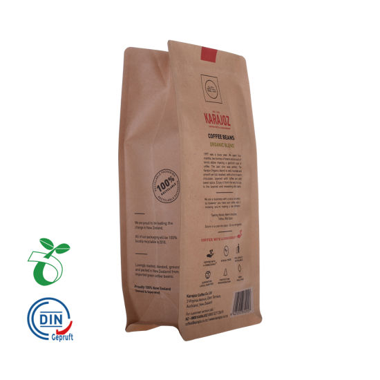 Cp05b Respetuoso del medio ambiente Almidón de maíz basado en Zip Lock Empaquetado Oxo Compostable Biodagradable Papel Kraft Coffee Tea Bag China