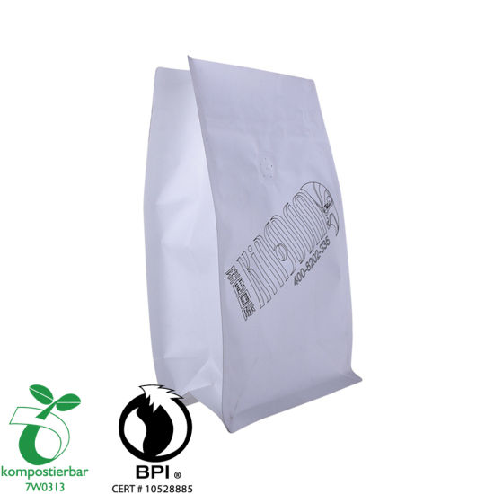 Bolsa de plástico biodegradable personalizada inferior de la caja de la cremallera al por mayor de China