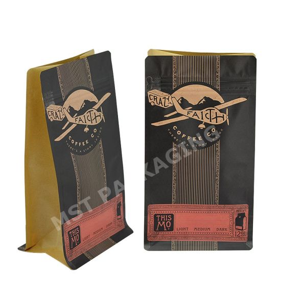 Impresión personalizada 100% Compostable Food Packaging Biodegradable Coffee Bag